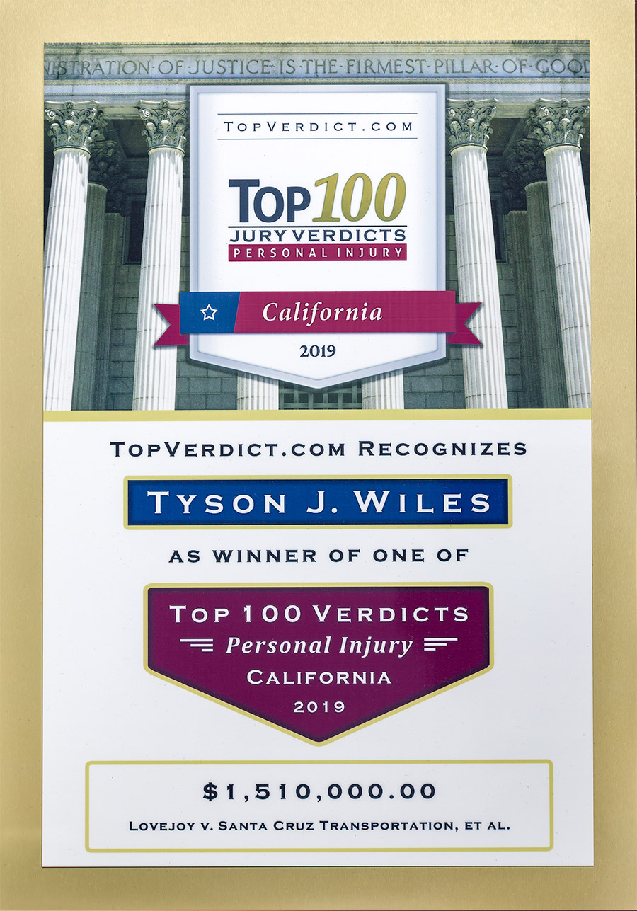Top Accident Injury Award