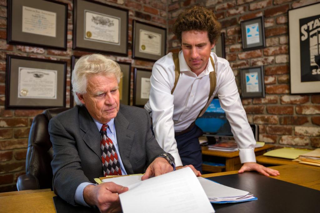 Brad & Tyson Wiles, Santa Cruz car accident attorneys at work on a case